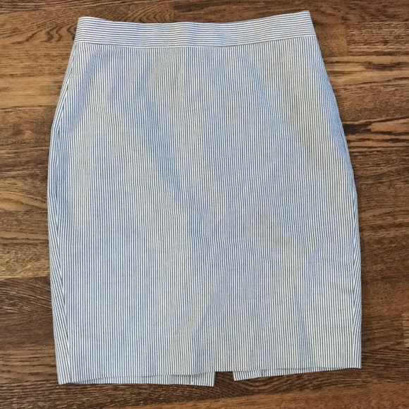 J. Crew Dresses & Skirts - Jcrew seersucker no2 pencil skirt sz 4p